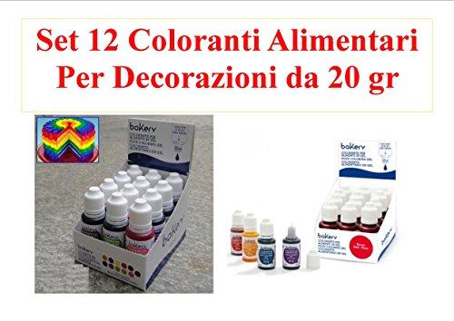 Cdc-Set-12-Coloranti-da-20-gr-Decora-Linea-Bakery-arancio-blu-giallo-fucsia-marrone-nero-rosso-verde-giallo-oro-rosa-viola