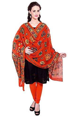 Vastraa Fusion Women's Cotton Dupatta Redish