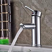 Centerset singola maniglia rubinetto lavandino del bagno in ottone massiccio cromo lucido bacino del miscelatore del rubinetto vasca da bagno Vanity Rubinetti nave, un foro Deck