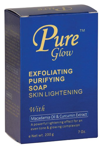 Pure Glow Exfoliating Purifying Soap Skin Lightening with Macadamia Oil & Curcumin Extract 200g