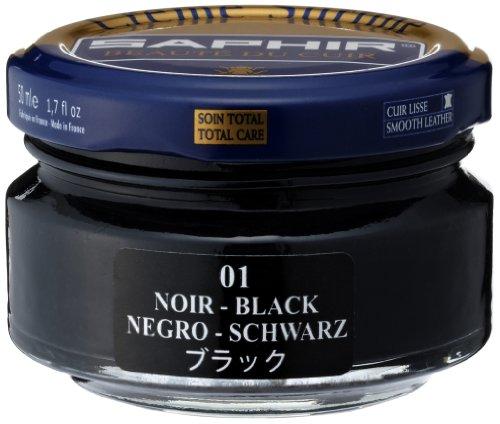 Saphir Crema Surfine Betún para calzado 50 ml - Negro, 50 ml