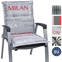 Beautissu Niedriglehner Auflage für Gartenstuhl Loft NL City 100x50x6cm Bequemes Sitzkissen Polsterauflage UV-Lichtecht