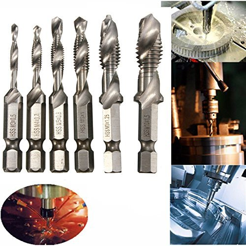 Mohoo Handgewindebohrer Maschinengewindebohrer Drill Bits Satz Edelstahl HSS (M3 M4 M6 M8 M10) Type B