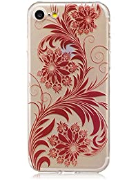 iPhone 7 Coque, iPhone 7 Housse, iPhone 7 Etui,BONROY® Motif monochrome classique Ultra-Mince Thin Soft Silicone Etui de Protection pour Souple Gel TPU Bumper Poussiere Resistance Anti-Scratch Case Cover Couverture Pour iPhone 7