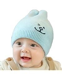 Bonnet Bébé - Enfant Crochet Casquette Chaud avec Oreilles Lapin - hibote fe156fa7e1e