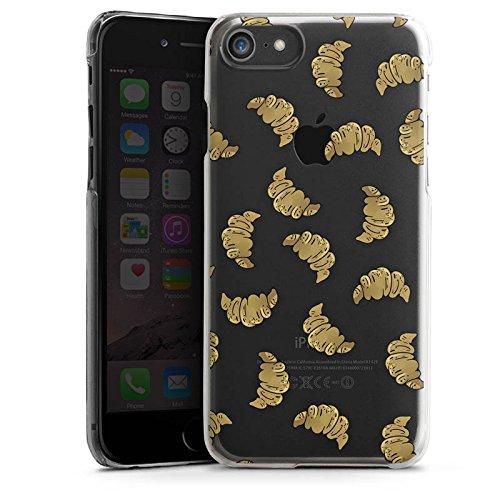 Apple iPhone 6 Plus Silikon Hülle Case Schutzhülle Croissant Muster Essen Hard Case transparent