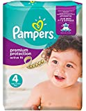 Pampers - Active Fit - Couches Taille 4 (7-18 kg/Maxi) - Pack économique 1 mois de consommation (x168 couches)