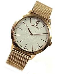 Pierre Cardin Reloj Classic Rosé Números Romanos Milanaise Moderno Reloj de hombre pc105311s10