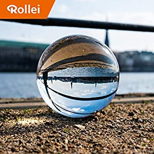 Rollei Lensball 110mm | Glass Ball | Crystal Ball | Photo Ball with storage bag & microfibre cleaning cloth for glass ball photography