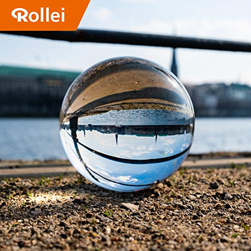 Rollei Lensball 110mm I Glaskugel I Kristallkugel I Foto-kugel mit Aufbewahrungstasche & Mikrofaser Reinigungstuch für Glaskugel-Fotografie