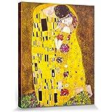 Gustav Klimt - El Beso, 1908 Cuadro, Lienzo Montado Sobre Bastidor (50 x 40cm)