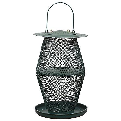 OPUS Lantern Forest Wildvogel-Futterspender, GL00323, grün Textured Black Metal