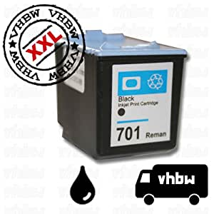 BLACK REFILLED INK CARTRIDGE compatible with HP No. 701 / CC635AE