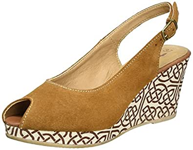 tamaris damen 29303 offene sandalen mit keilabsatz schuhe handtaschen. Black Bedroom Furniture Sets. Home Design Ideas
