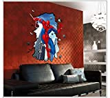 Spiderman Hot Sell PVC Wall Sticker Children Bedroom Background Decoration by Tiny Paradise UK