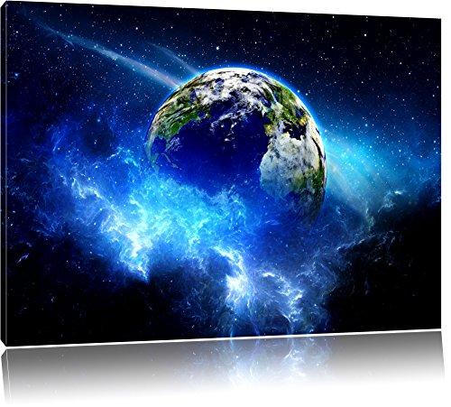 planet-erde-format-100x70-auf-leinwand-xxl-riesige-bilder-fertig-gerahmt-mit-keilrahmen-kunstdruck-a