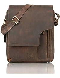 LEADERACHI Hunter Leather 25 Ltr Brown Messenger Bag