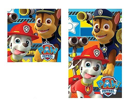 2 tgl Handtuch Set - Nickelodeon Paw Patrol - Handtuch/Gesichtstuch und Waschlappen 02