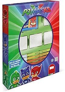 Multiprint PJ Masks - Juegos de Sellos para niños (Multicolor, Caucho, Madera, 3 año(s), Italia, 190 mm, 36 mm)