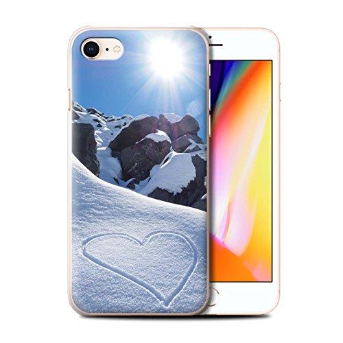Stuff4 Hülle / Case für Apple iPhone 8 / Ski Aufzug Muster / Skifahren/Snowboard Kollektion Liebe die Berge