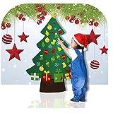 Happy Event DIY Filz Weihnachtsbaum Set Mit Ornamenten Für Kinder Tür Wandbehang