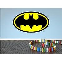 Red Parrot Graphics Batman Logo Kids Wall Art, laptop Sticker Full Colour Print Decal Transfer HUGE (Large 58cm x 100cm)