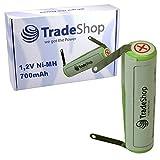 Trade-Shop Premium Ni-MH Akku 1,2V 700mAh für Wella Contura HS60 HS61 Contura Chrome haarschneider