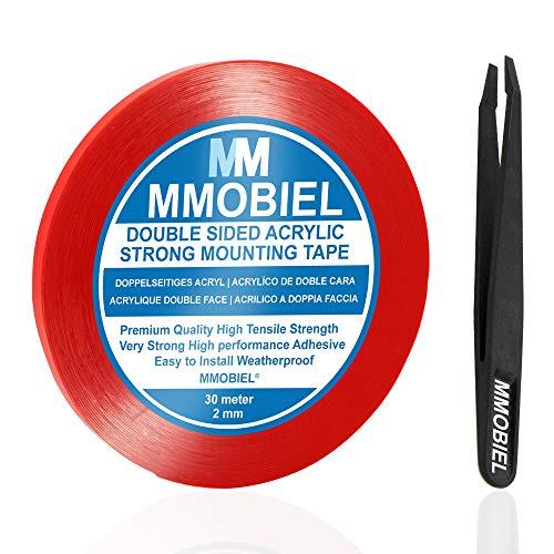 MMOBIEL 2mm Cinta adhesiva fuerte acrílico doble