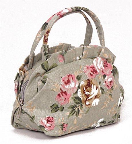 Fortuning's JDS® Elegante casuale di tela borsa borsa delle donne verde