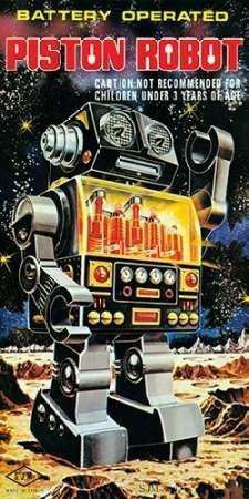Feelingathome-Stampa-artistica_x_cornice-Batteria-Operated-Pistone-Robot-cm102x50-arredo-poster-fineart
