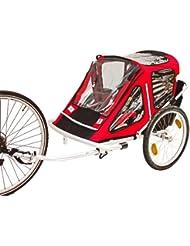 Kinderanhänger Fahrradanhänger Red Loon RB10001 ALU-Light für 2 Kinder