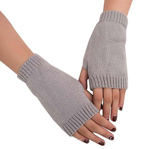 Damen Pulswärmer Halbfinger Handschuhe Armstulpen Strickhandschuhe Wollhandschuhe Hand Stulpen,OSYARD Frauen Mädchen Gestrickter Fingerless Warme Winterhandschuhe Weich Handschuh Armwärmer Handwärmer