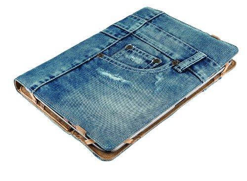 Trust Universal Jeans Folio Stand bis 25,4 cm (10 Zoll) für Tablet blau