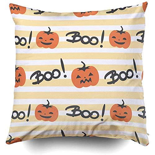 Ruthxiaoliang fodera per cuscino del divano, halloween simpatico motivo di halloween sfondo spooky decorativo quadrato accento cerniera copricuscini per stampa con cerniera e doppia faccia