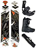 Airtracks Snowboard Set - Board LINE Wide 154 - Softbindung Master - Softboots Savage Black 43 - SB Bag