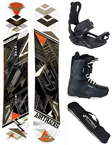Airtracks SNOWBOARD SET - BOARD LINE WIDE 154 - SOFTBINDUNG MASTER - SOFTBOOTS STAR SCHWARZ 42 - SB BAG
