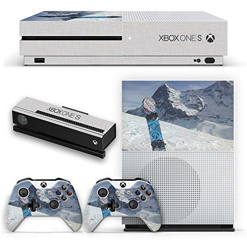 Extreme Sport 013, Wintersport, Design folie Sticker Skin Aufkleber Schutzfolie mit Farbenfrohe Design für Xbox One S Weiß