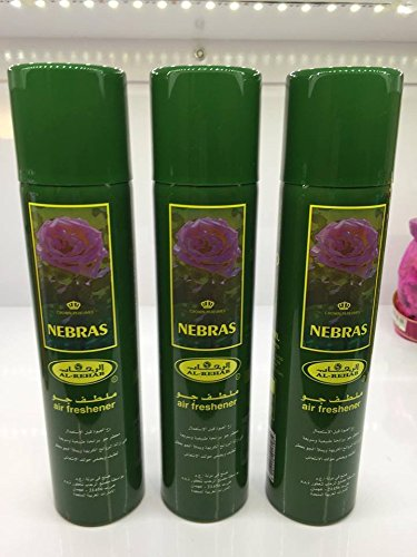 Lot de 3 Air fresher 300ml Al Rehab Nebras + 1 OFFERT