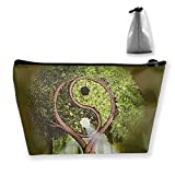 Yin Yang Tree Medium Cosmetic Makeup Bag Travel Pouch Carry Case
