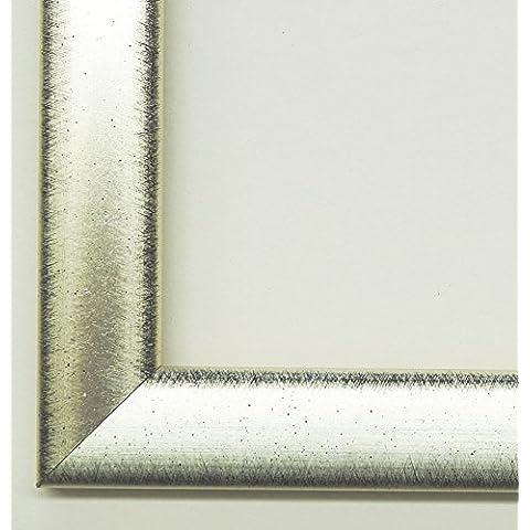 Cornice Coburg Japan–argento, nero banda 1,95–vuoto telaio senza vetro–10x 10cm–vero