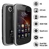 Outdoor Handy, E&L W5 Outdoor Smartphone ohne Vertrag 4G IP68 Wasserdicht Staubdicht Stoßfest Android 6.0 Telefon 2800mAh Akku 1GB RAM+8GB ROM 4Zoll Smartphone Touchscreen (Grau)