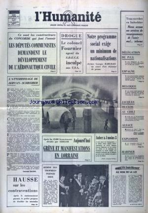HUMANITE (L') [No 8470] du 16/11/1971