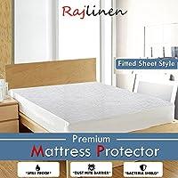 Rajlinen - Protector de colchón impermeable, transpirable y antibacteriano y 100% antialérgico, hecho