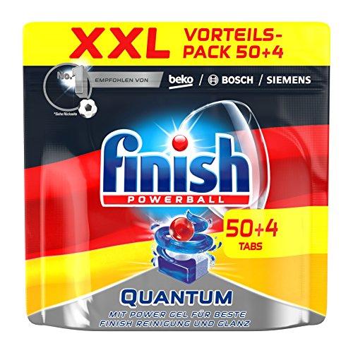 Finish Quantum, Spülmaschinentabs, XXL, 50 + 4 Tablets (Enzym-gel)