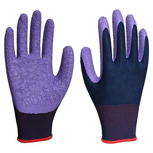 ickhandgelenk Atmungsaktive Gartenhandschuhe Nylon-Latex-faltenbeschichtete Industriehandschuhe (12 Paar Pro Packung) ()