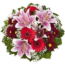 """Amazon.de Pflanzenservice Blumenstrauß """"Charlotte"""" mit rosa Lilien"""