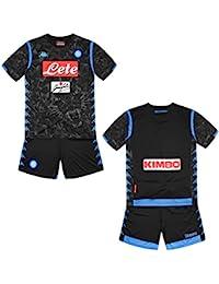 078d235274 SSC Napoli Kit Gara Away 2018/2019 Bimbo, Nero, 10 anni