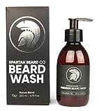 Premium Lujo barba Wash Champú de Barba, de Spartan barba Co. Hecho de 100% ingredientes naturales para el mejor cuidado de la barba Champú. Promueve el Crecimiento Saludable barba. XL 200ml + libre rápido envío.