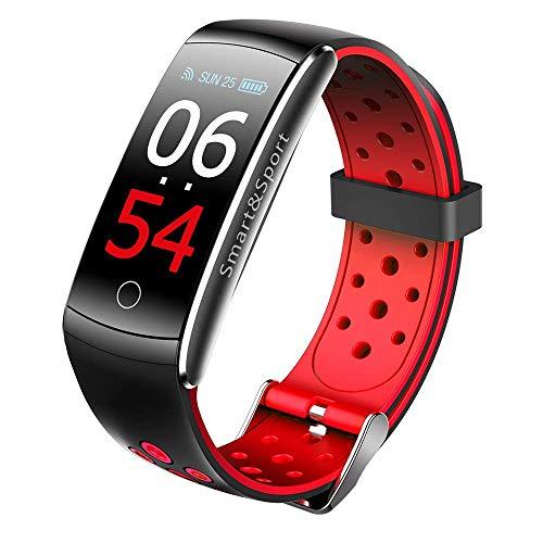 """MKAI-smartwatch Smart Watch Intelligentes Armband 0,96\""""LCD-Display Herzfrequenz-Messgerät Armband Blutdruck Blutsauerstoff-Test Fitness-Band Kompatibel Mit IOS Und Android,Red"""