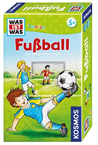 KOSMOS 711207 - Was ist was Junior Fußball, Das lustige Wissensspiel, Mitbringspiel für Kinder ab 5 Jahre -